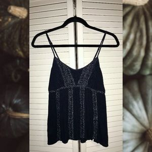 American Eagle Braided Embellished Tank Navy
